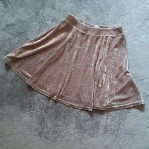 TOPSHOP women's size 2 blush velour a line mini